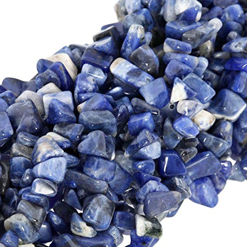 (TUMBEELLUWA Polished Semi Precious Loose Beads for Jewelry Making, 5-8 mm Chips Tumbled Stones Beads 33