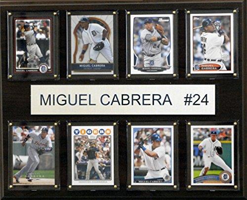 MLB Detroit Tigers Miguel Cabrera 8-Card Plaque, 12 x 15-Inch