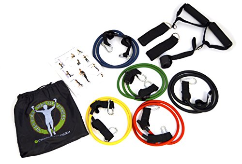 Resistance-Bands-Set-with-5-Bands-Door-Anchor-Ankle-Strap-Hand-Grips-Starter-Manual-and-Resistance-Band-Carrying-Bag