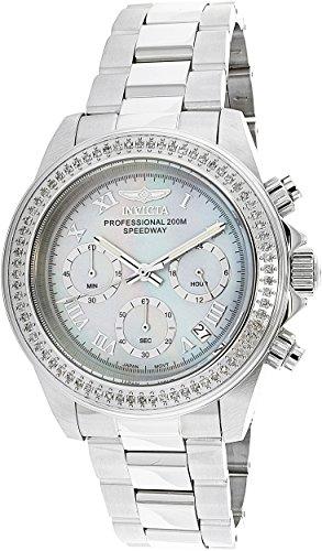 Invicta Men's Speedway Steel Bracelet & Case Quartz Platinum Dial Analog Watch - Platinum Watch Diamond
