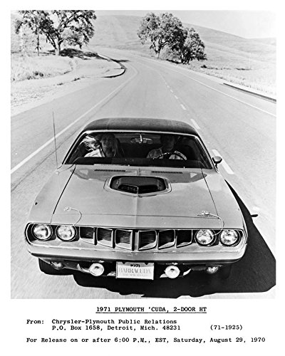 1971 Plymouth Barracuda Hardtop Automobile Photo Poster