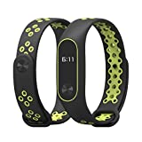 Owill Durable Replacement TPU Anti-Off Wristband Sports Bracelet for Xiaomi Mi Band 2, Fits 150-210mm Wrist (Green)