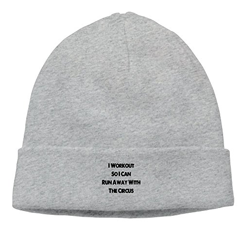 NI ER NI I Workout So I Can Run Away With The Circus New Winter Hats Knitted Twist Cap Thick Beanie Hat Ash (Beanie Runaway)