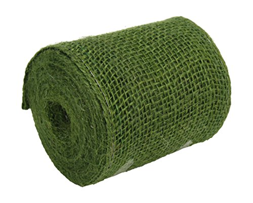 Kel-Toy RNW04-60 Burlap Ribbon with Woven Wired Edge, 4 x 10 yd, -