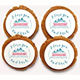 Chomp a'Lomp Cookies, Mountain Love, Beautiful Bulk Box, 12 Decorated, 12 Plain