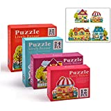 4 Sets Jigsaw Puzzle,Creative Toy Educational Card Toy for Children Kids Boy Girl Gift Play