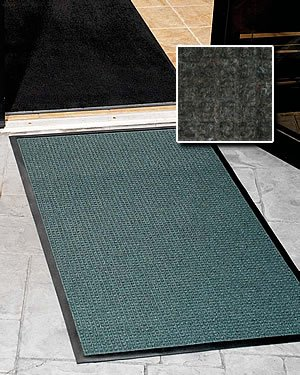 Commercial Grade Entry Door Mat - FloorGuard - 4' x 12' - Charcoal - Residential / Commercial Walk Off Entrance Mat by FloorGuard