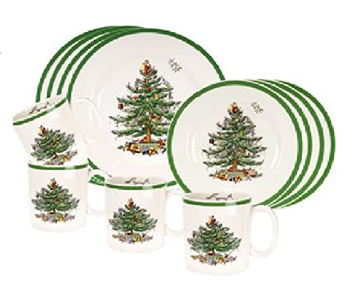 Christmas Tree 12-PC Dinnerware Set