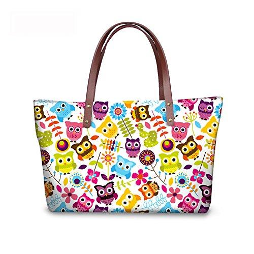 FancyPrint leather Foldable C8wc2004al Bags Handle Wallets Women Top Handbags Purse Satchel qSqFr