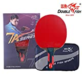 Double Fish 7 Star Advanced Training Ping Pong Paddle, Table Tennis Racket With Carry Bag And Microfiber Cleaning Cloth In Gift Box (D-7A)