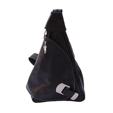 7f7fa220cfaf9 Rucksack Damen Rucksackhandtasche Crossbody Schultertasche Leder schwarz  Handtasche DrachenLeder Made in Italy OTF600S