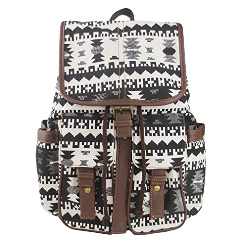 Imiflow Casual Backpacks Print Leather Daypacks Travel College Rucksack Backpack Purse for Girls Women 005 Irregular