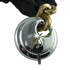 Giant cadena y candado - 1 mm x 10 mm con colgante de 90 mm Candado