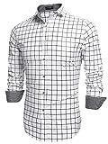 Best Man Buttons - Coofandy Men's Fashion Long Sleeve Plaid Button Down Review