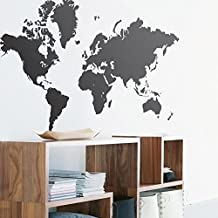 Silly Map of the World Wall Sticker Decal Vinyl Art Sticker Home Decor Wall Paper