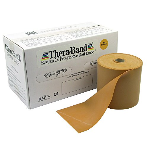 FAB101227 - Fabrication Enterprises, Inc. Thera-Band Twin-Pak exercise band, gold, 100 yard (4 25-yd boxes) by Fabrication Enterprises, Inc.