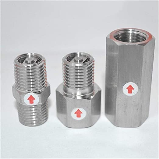 BAIJIAXIUSHANG-TIES Valves Fittings 1//4 NPT Male Check One-Way Valve 304 Stainless Steel Water Gas Oil Non-Return 915 PSI