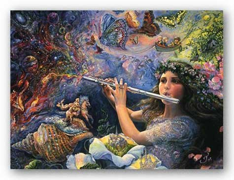 Enchanted Flute by Josephine Wall Art Print Poster