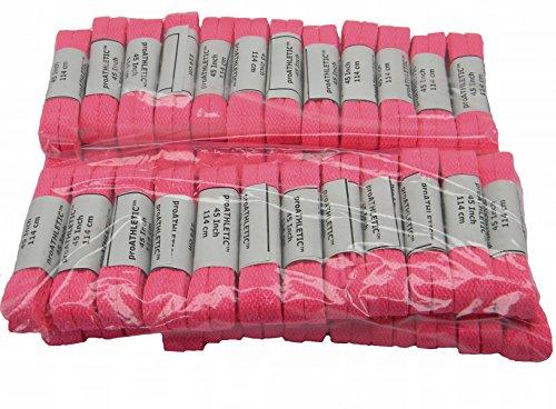 Hot Pink Team Veters (tm) Bulk 48 Paar Pack Atletische Schoenveters Pink Je Team Voor Borstkanker Bewustzijn!