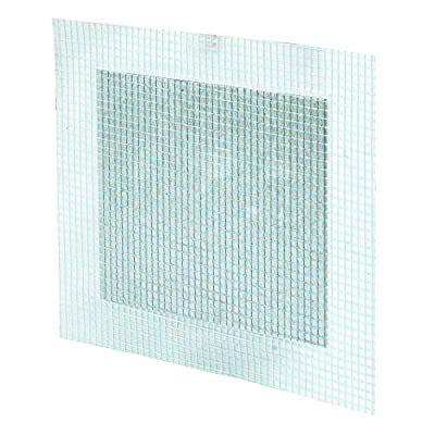 Prime-Line MP9282 Self-Adhesive Drywall Repair Patch, 4 X 4-Inch, Fiber Mesh Over Galvanized Plate, Pack of 5, 5 Piece