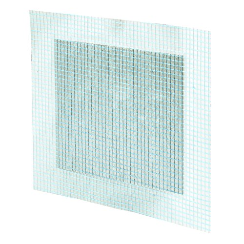 Prime-Line MP9282 Self-Adhesive Drywall Repair Patch, 4 X 4-inch, Fiber Mesh Over Galvanized Plate, Pack of 5, 5 Piece by Prime-Line