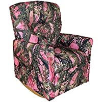 Dozydotes Child Rocker Recliner Contemporary Camouflage Pink - True Timber DZD11825