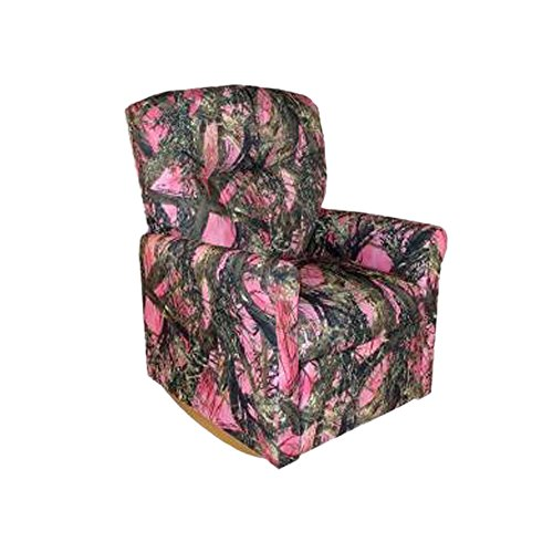Dozydotes Child Rocker Recliner Contemporary Camouflage Pink - True Timber DZD11825 by Dozydotes