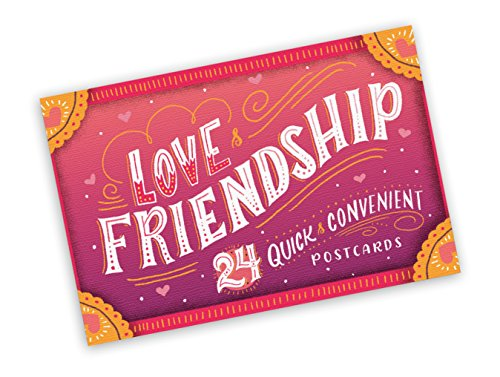 Studio Oh! Snail Mail Postcards Available in 4 Different Themes, Book of 24, Love and Friendship