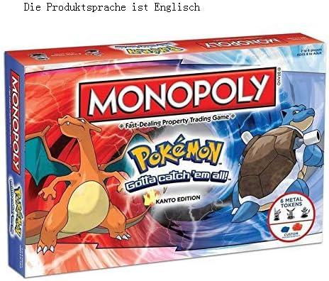GWLTV Juegos de Mesa Juguetes Pokemon Pokemon Monopoly Partido multijugador Tarjeta de Juegos de Mesa Versión Inglés: Amazon.es: Hogar