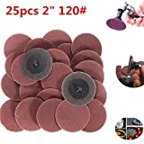 dupont polishing compound - New 25pcs 2 Inch 120 Grit R-Type Roll Lock Sanding Discs Abrasive Tool kawasaki polisher dutch glow furniture mylands friction dremel 670 mini saw attachment drill