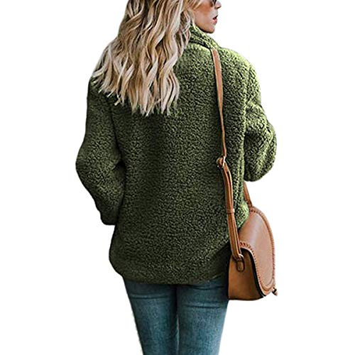 Laine Puseky Avec Revers Manteau Pour Femmes Green En Chaud Army Atqgt