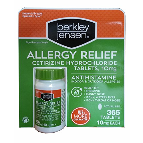 Berkley Jensen Allergy Relief, 365 ct. (pack of 6) by Berkley and Jensen