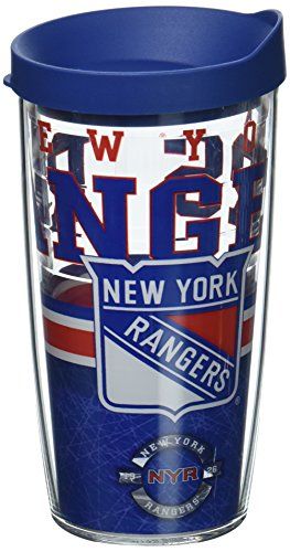 Tervis NHL New York Rangers Core Wrap Tumbler with Blue Travel Lid, 16 oz, - Tumbler Rangers