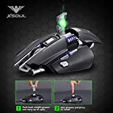 Gaming Mouse 4000DPI 7 Buttons Customized Weight Tunning Palm Rest Replaceable High Precision Optical Ergonomic Design Mice for Pro Gamer XSOUL RAPTOR XM3 - GRAY