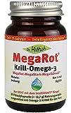 Mega-Rot® Krill-Omega-3 - 30 Kapseln - Krillöl der neuen Generation für eine optimale Herzgesundheit - Hochdosierte Omega-3 Fettsäuren - In einer lichtundurchlässigen, umweltfreundlichen und sicheren Glasverpackung - Von Dr. Hittich