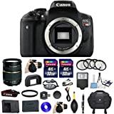 Canon EOS Rebel T6i 24.2MP Full HD 1080p Video Digital SLR Camera Bundle with Tamron AF 28-75mm f/2.8 Autofocus Lens & 2 Pieces Transcend 32GB High Speed SDHC Memory Cards + Accessory Kit (14 items)