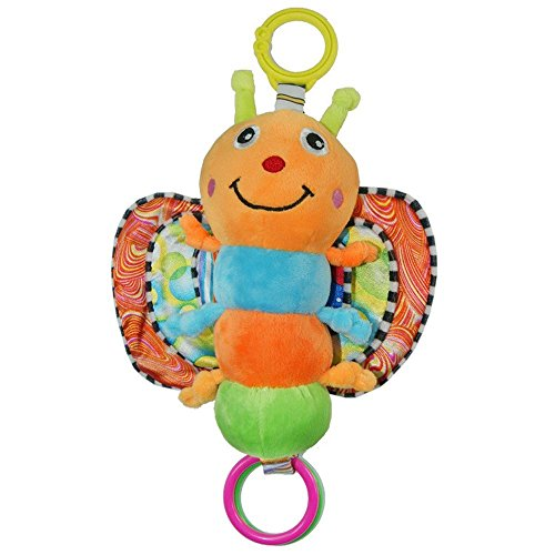BabyfansTM Baby Cute Colorful Butterfly Cartoon Shaped Plush Music Puppet Educational Toys