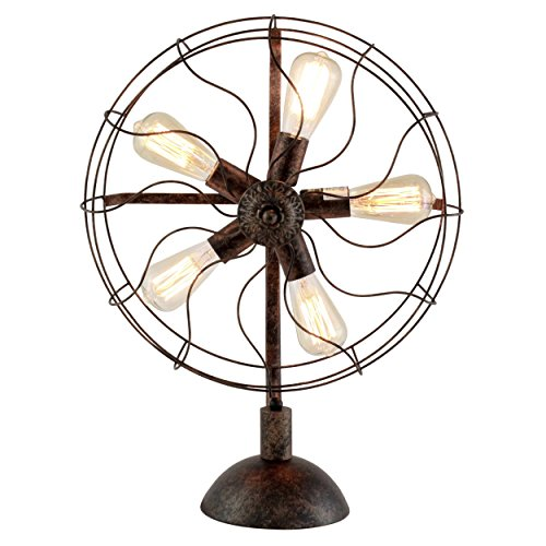 Aspire Home Accents Hughes Industrial Fan Table Lamp by Aspire Home Accents