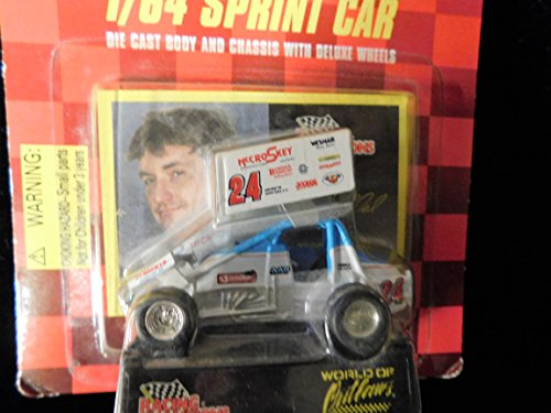 Checkered Flag Diecast - Sprint Car World of Outlaws Terry McCarl 1998 Red Checkered Flag Card 1:64 scale die-cast Racer by Racing Champions