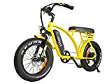 Electric Bicycles 48V 500W Motor Ebikes For Adults 10.4Ah Lithium Battery 20 Inch Fat Tire Electric Bikes Front Suspension Fork With Throttle Pedal Assist M-60 2018 Fit For Men Women (Yellow)