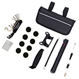JUN CHI Portable bicycle emergency repair kit Portable Bicycle Equipment Sets Included Mini Pump & 16 in 1 Bike Multi Tool Cycling tour essential kit