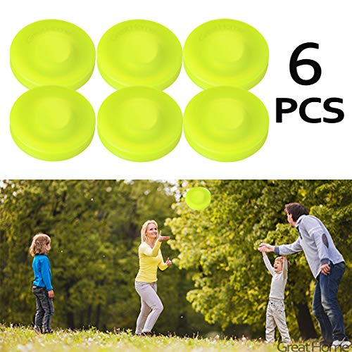 Great Home Flying Disk Zip Disc Clips Pocket Frisbee Pack for Men Kids Mini Pocket Flexible Soft New Spin in Catching Game Flying Disc Catch Game Beach Outdoor Toys (6 Pcs)