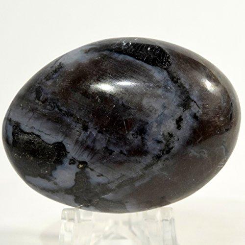 48mm Indigo Gabbro Cabochon Pebble Natural Mystic Merlinite Crystal Polished Blizzard Mineral Stone Cab - Madagascar Cabochon Crystal Cab