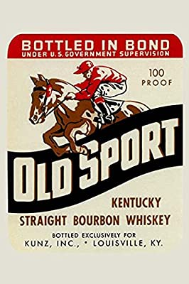 Buyenlarge 'Old Sport Kentucky Straight Bourbon Whiskey' Paper Poster, 20 by 30-Inch