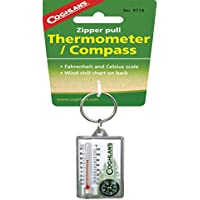 Coghlans 9714 Zipper Pull Thermometer and Compass