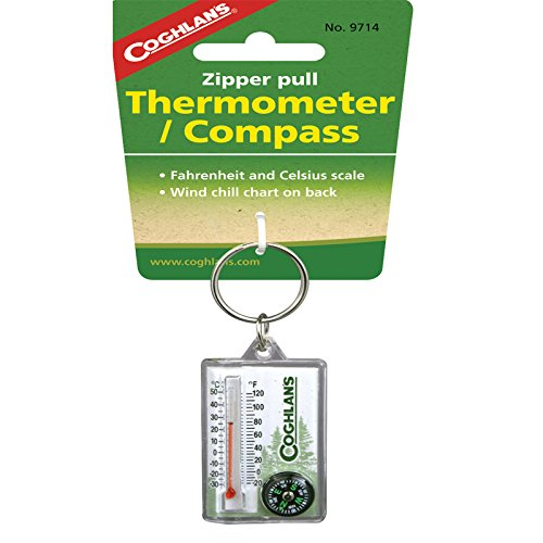 - Coghlan's Zipper Pull Thermometer and Compass