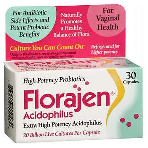 - Florajen Florajen Acidophilus, 30 caps (Pack of 3)