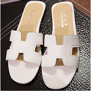 Comfort Pu Sandals EU39 Spring RTRY Silver Casual Black US8 Women'S Flat White UK6 CN39 5tqn1HxE