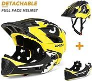 Roeam Kids Bike Helmet Kids 20.5-22 Inches Detachable Full Face Helmet Children Sports Safety Helmet for Cycli