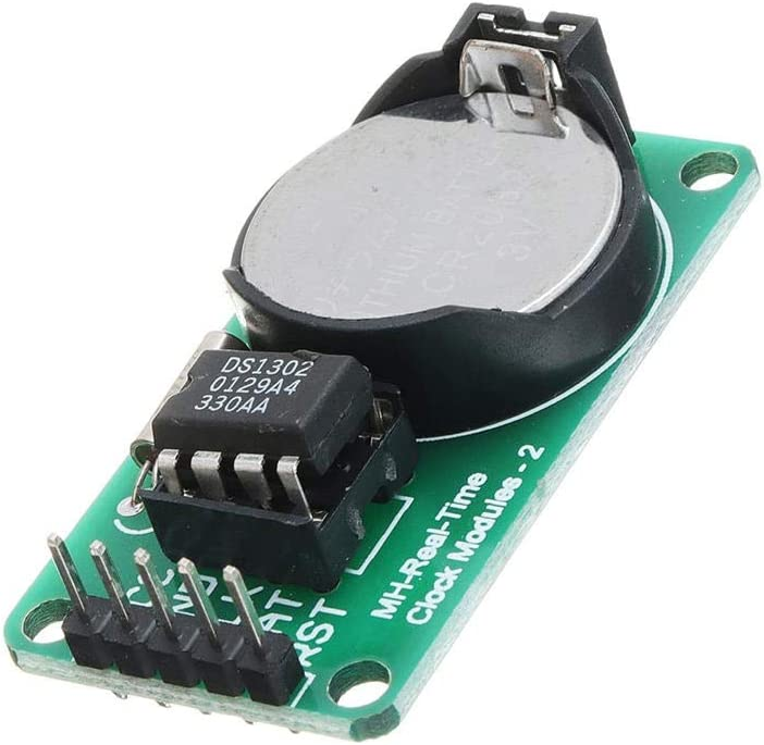 Cvmnkljfge DS1302 Real Time Clock Module with CR2032 Battery Power Down Travel Time DS1302 Module for Arduino / Starter / Kit